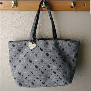 Dooney and Bourke Purse  black and pink hearts